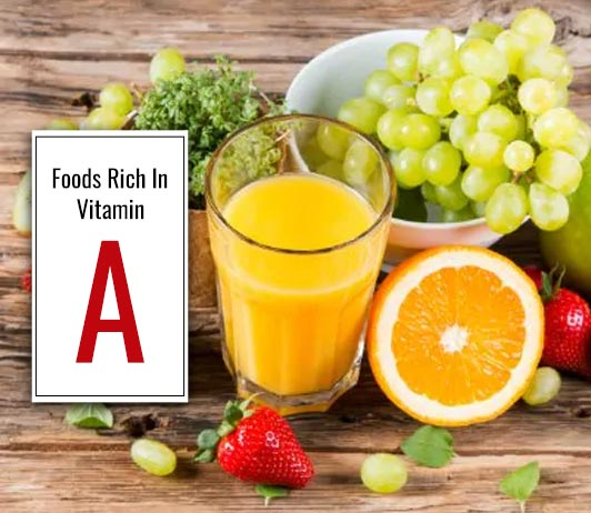 food rich in vitamin A