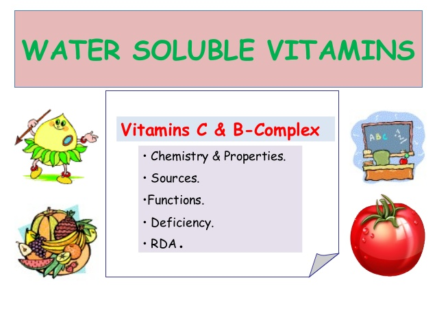 ・ Water-soluble vitamins arenteiro