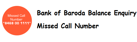 BANK OF BARODA CHECK BALANCE by missed call