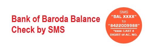 BANK OF BARODA CHECK BALANCE by SMS