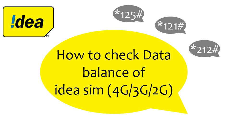 How to check idea internet balance arenteiro