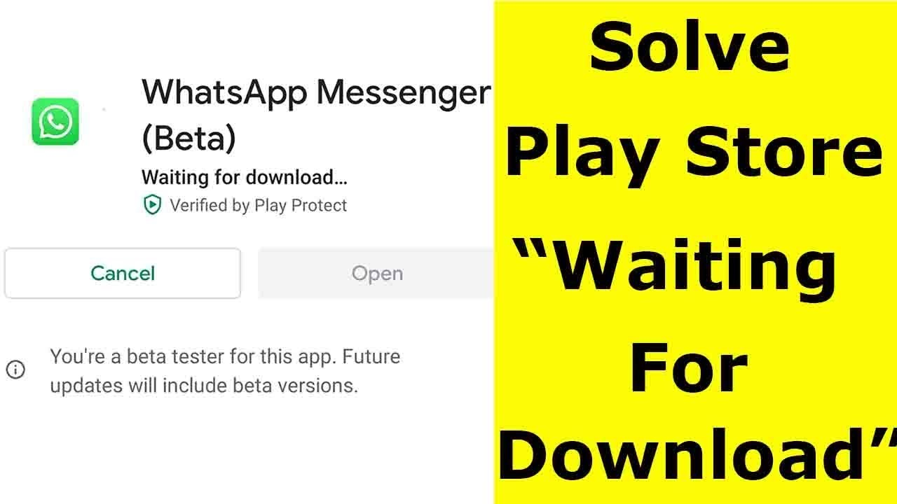 How to solve play store waiting download problem-arenteiro