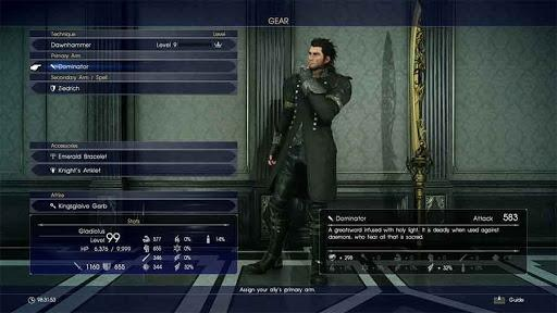 Where To Find The Dominator Greatsword In Final Fantasy XV
