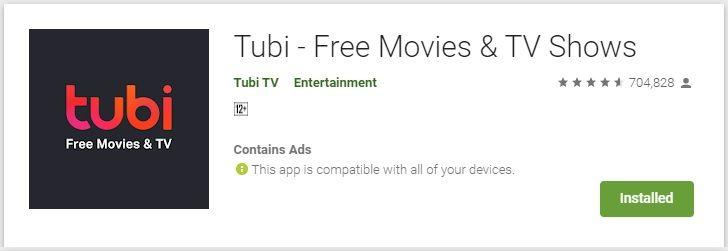 Tubi TV for PC Windows Download -arenteiro