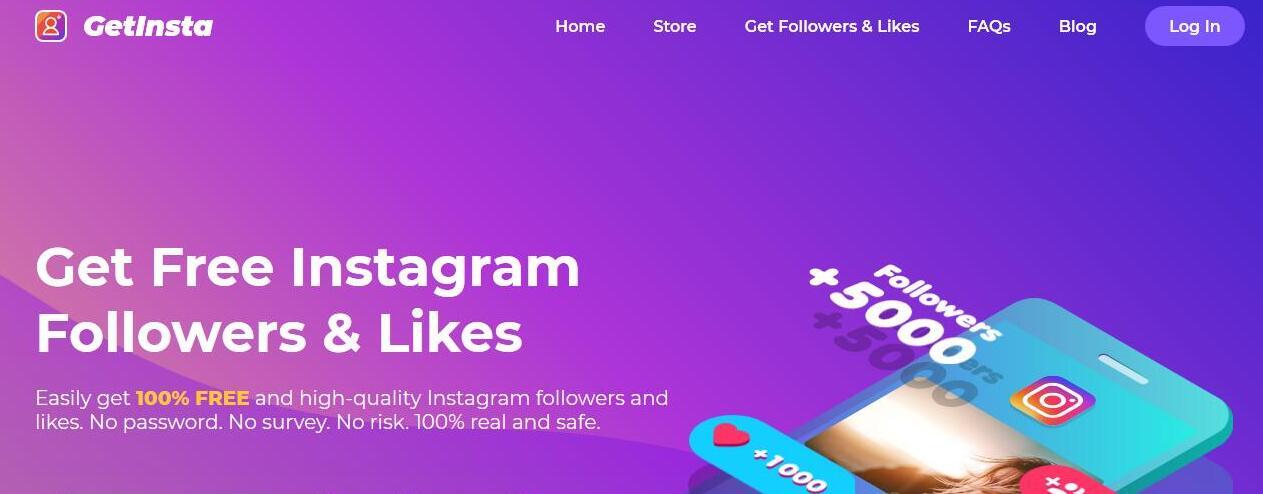 GetInsta App: The Best Tool to Get Free Instagram Followers & Likes