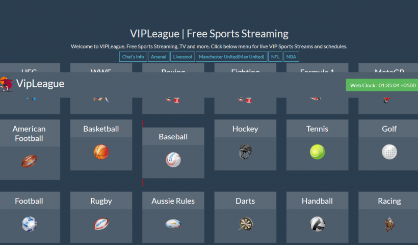 VIP League Free Sports Streaming & Schedule Online